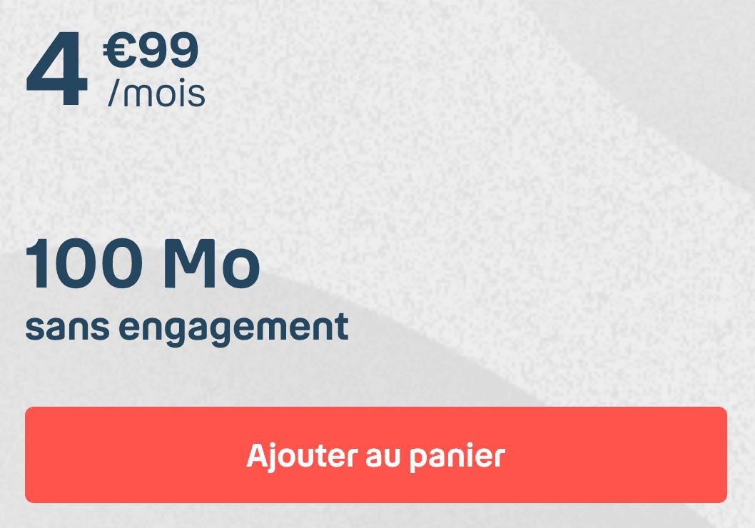 Le forfait 100 Mo de B&YOU