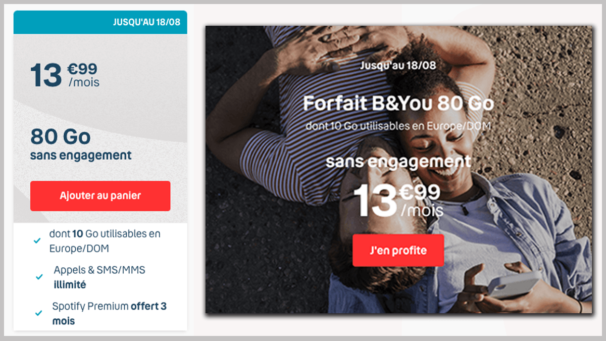 Forfaits B&YOU en promo