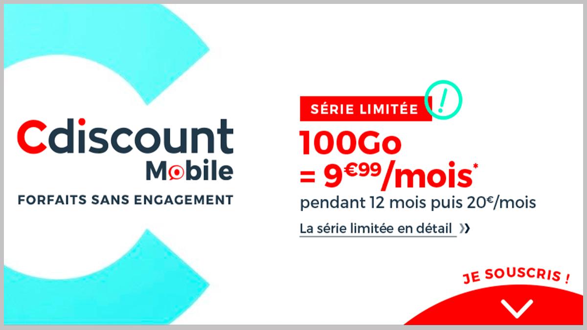 Nouvelle offre Cdiscount Mobile