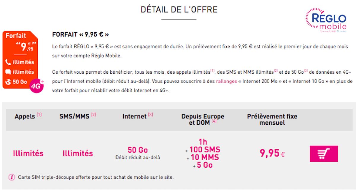 Forfait à 10€ chez Réglo Mobile