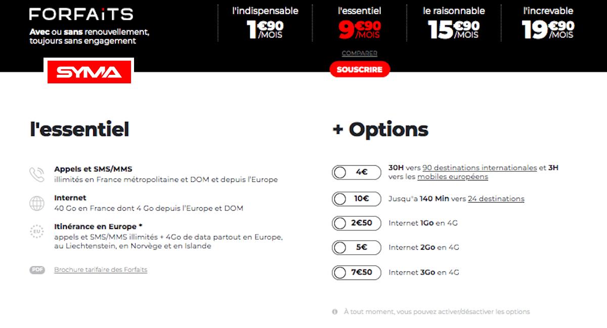 Abonnement mobile à 10€ chez Syma Mobile