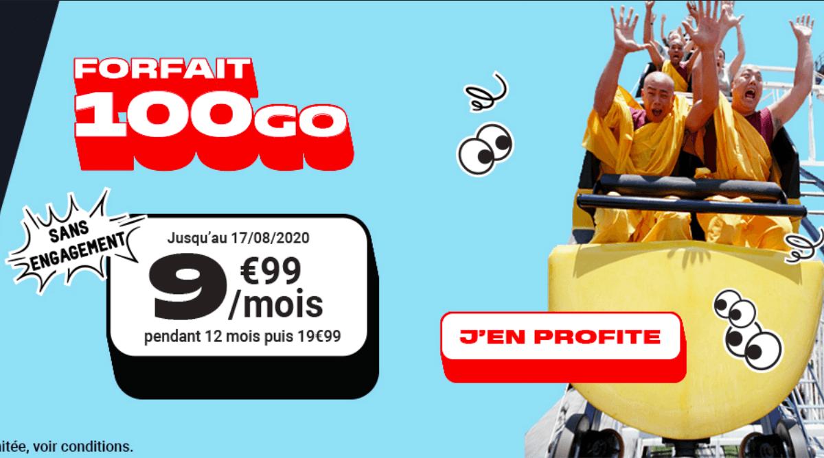 Le forfait 100 Go de La Poste Mobile