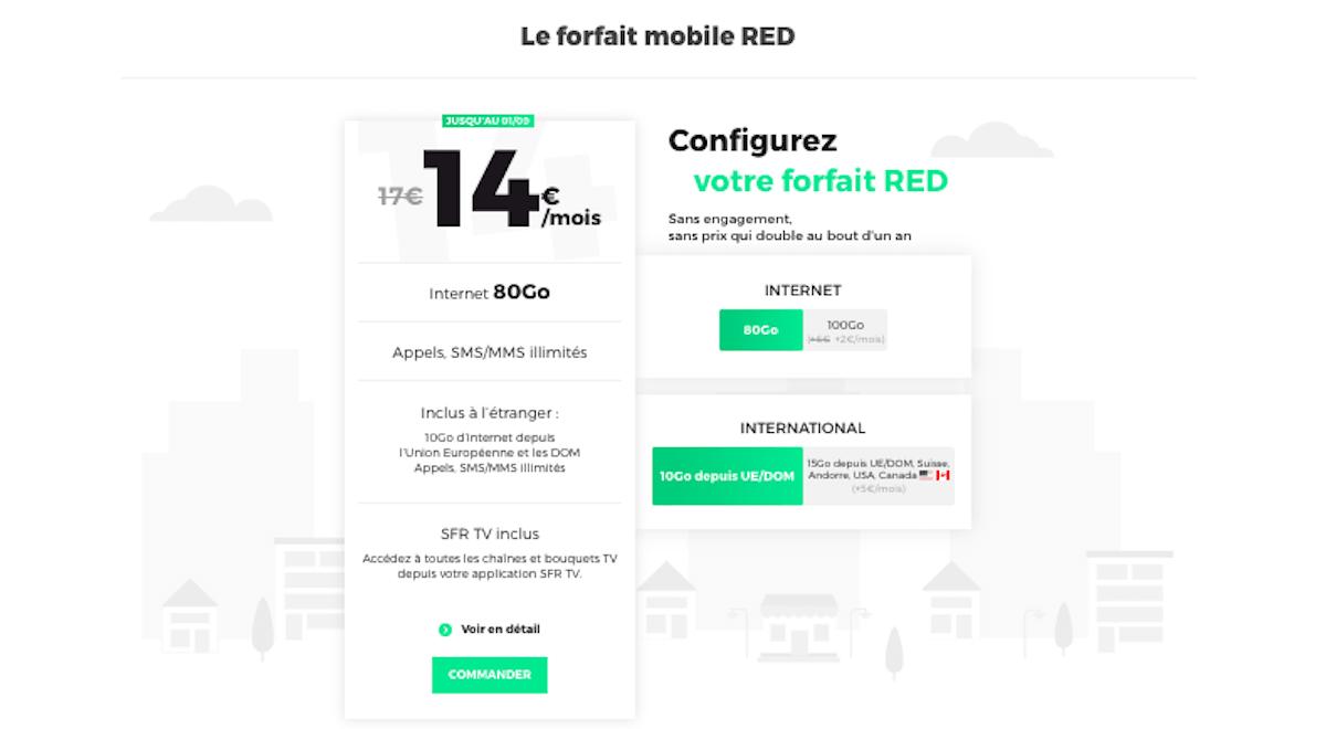 Un forfait 80 Go personnalisable chez RED by SFR