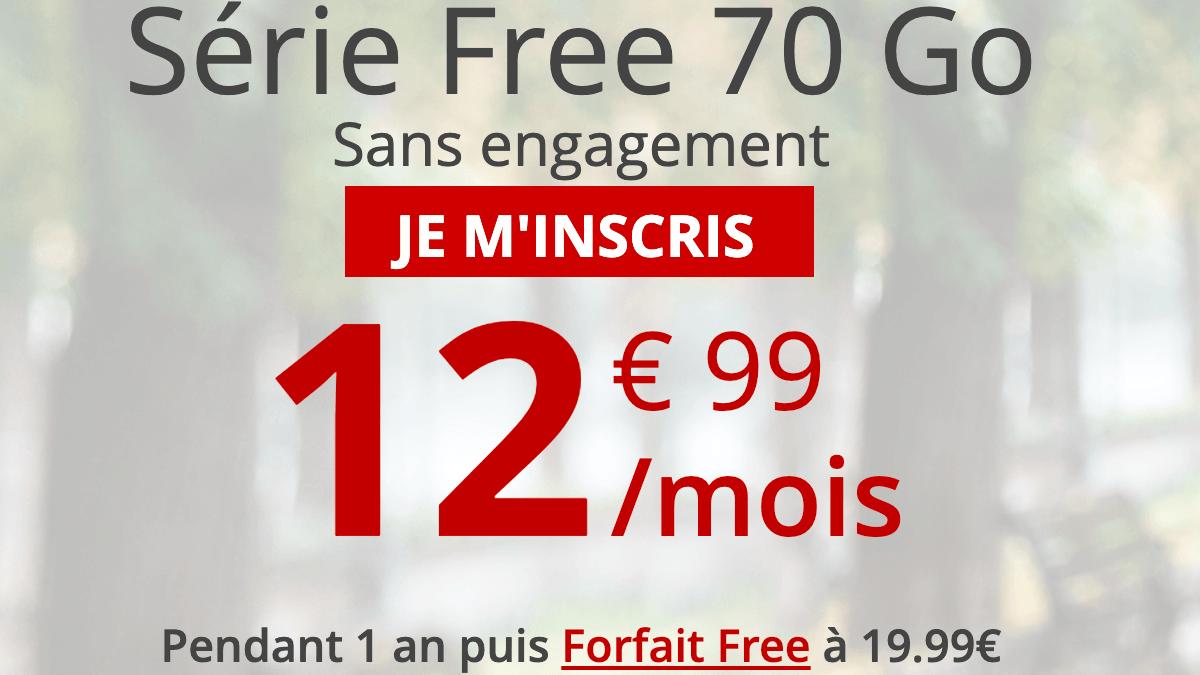Le forfait 4G de Free en promotion.