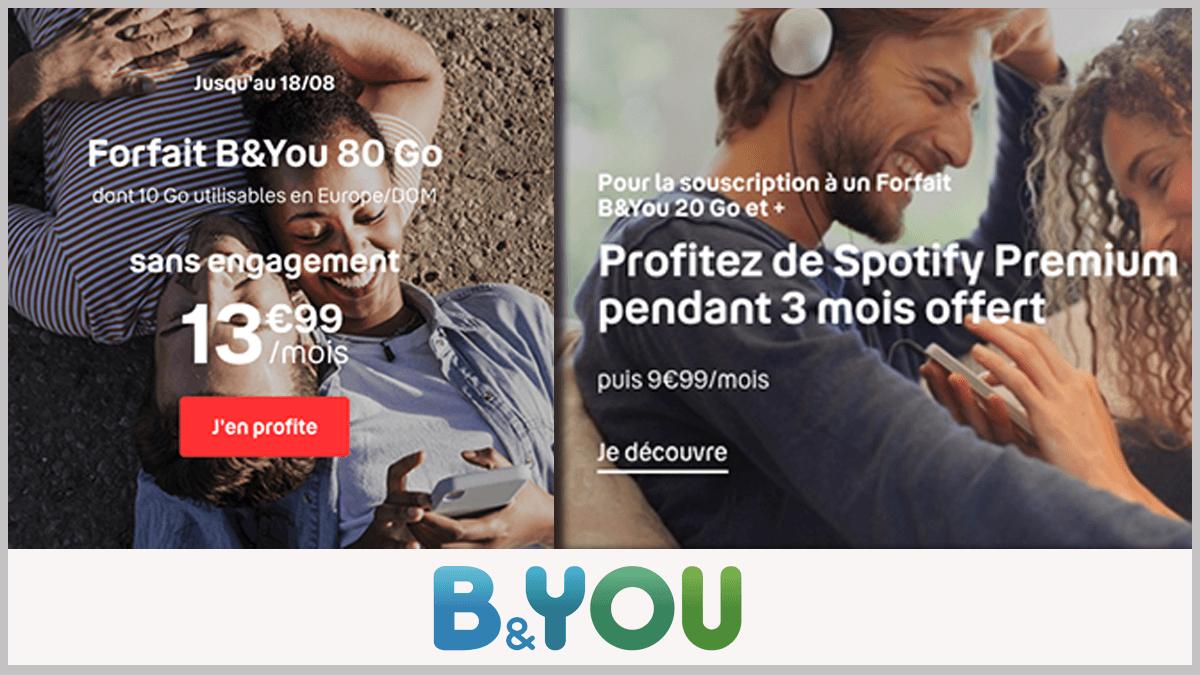 Forfait musical B&YOU avec Spotify