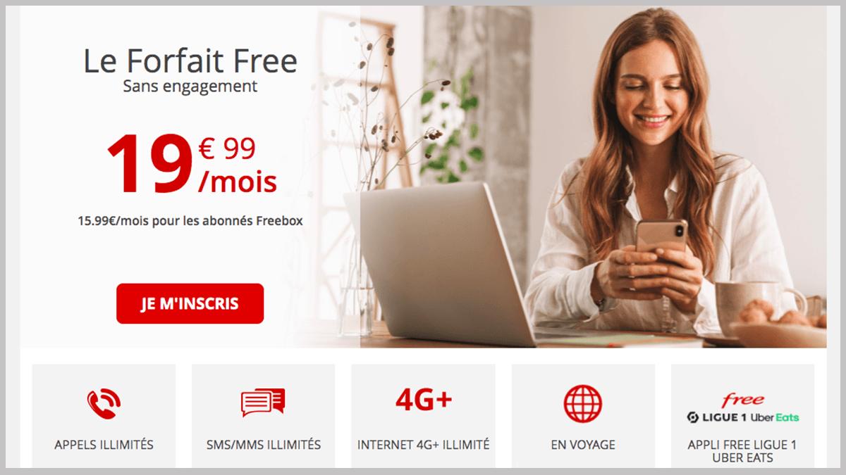 Forfait Free de Free mobile en promo