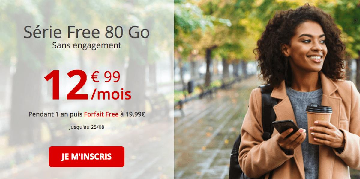 Forfait Free 80 Go en promo