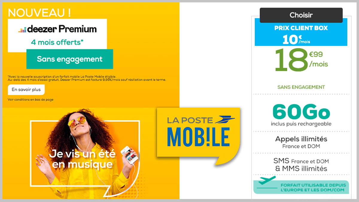 La Poste Mobile et Deezer Premium