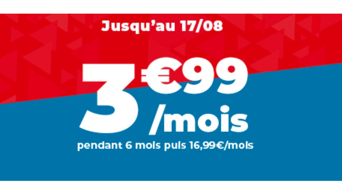 3,99€ par mois pour 50 Go : le forfait en promo d'Auchan Telecom.