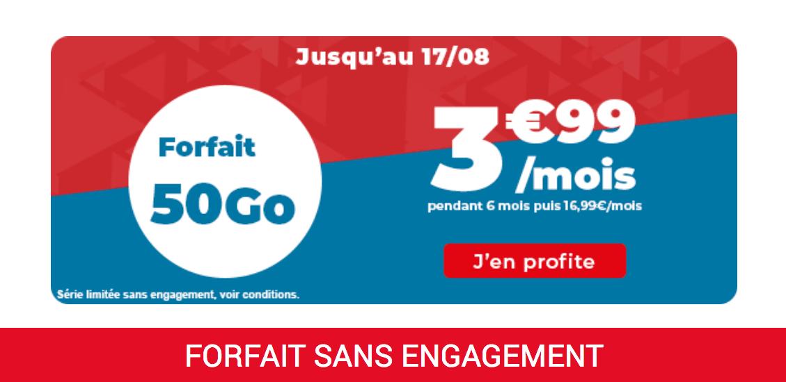 le forfait pas cher 50 Go d'Auchan Telecom