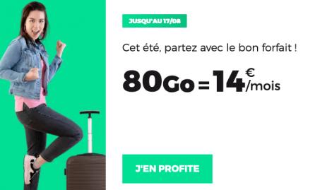Le forfait 80 Go de RED by SFR.