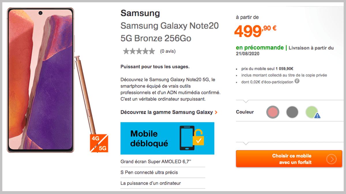 Forfait Orange et smartphone