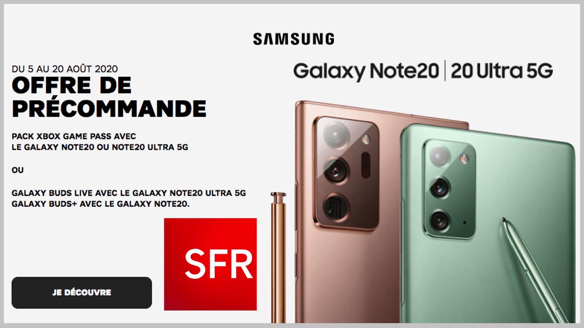Samsung Galaxy Note 20 avec SFR