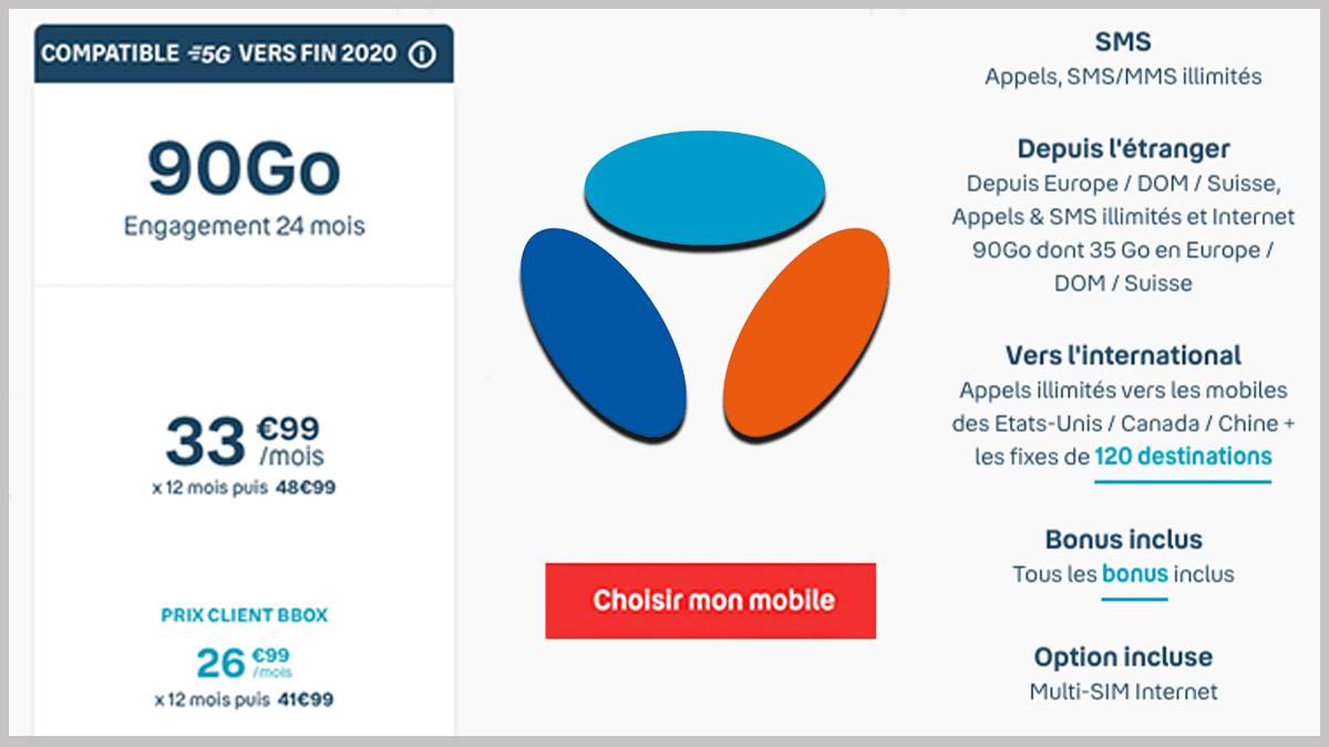 Forfait 90 Go Bouygues Télécom