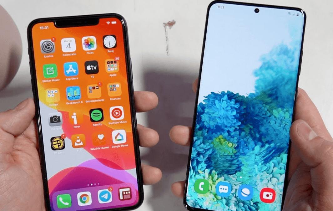 Samsung en baisse, les smartphones d'Apple en hausse.