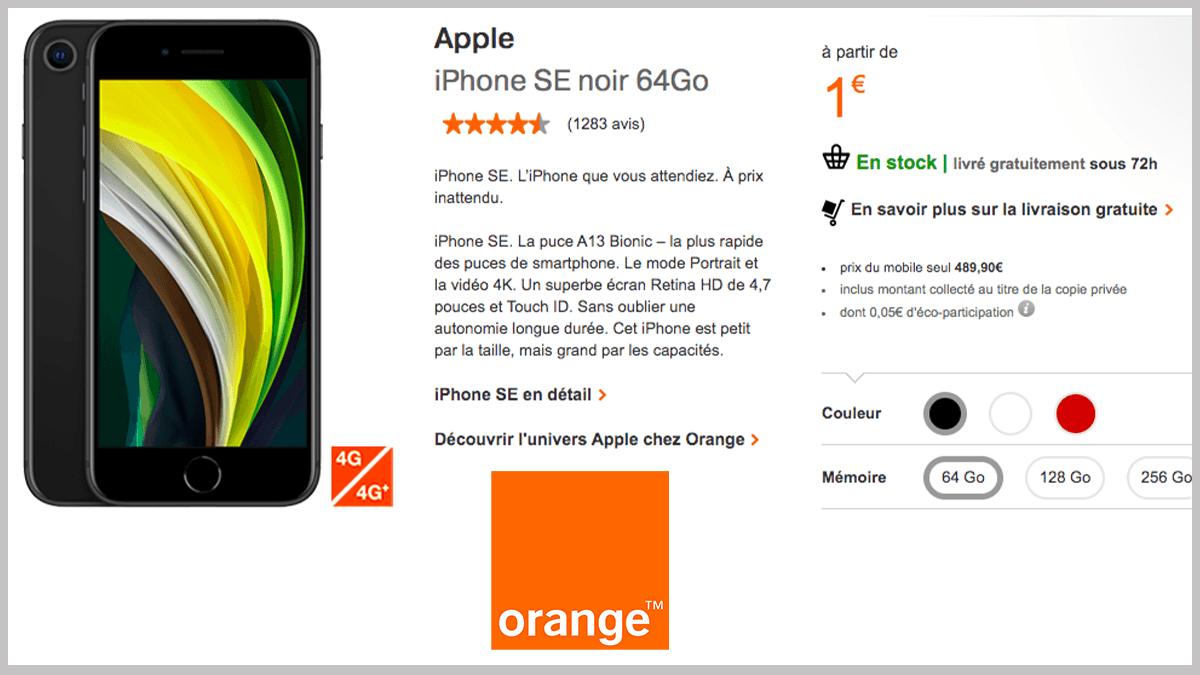 iPhone SE et Orange partenaires