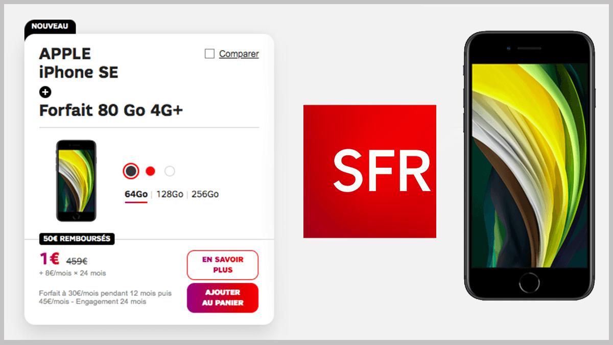 iPhone SE en promo avec SFR