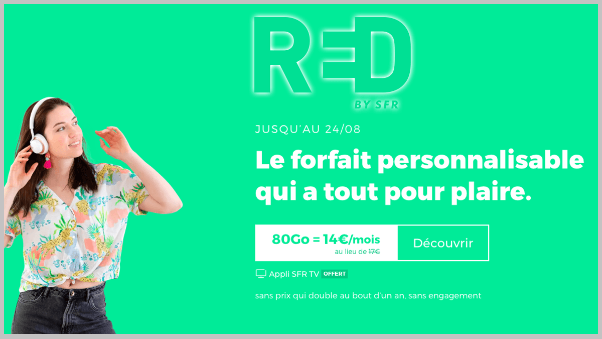 RED by SFR avec options supplémentaires