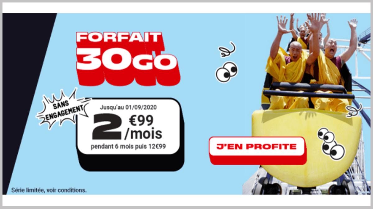 Promotion NRJ Mobile 30 Go