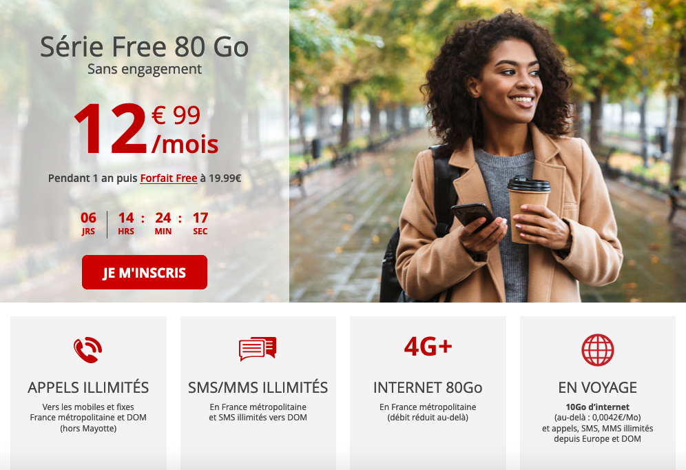 forfait mobile Serie Free