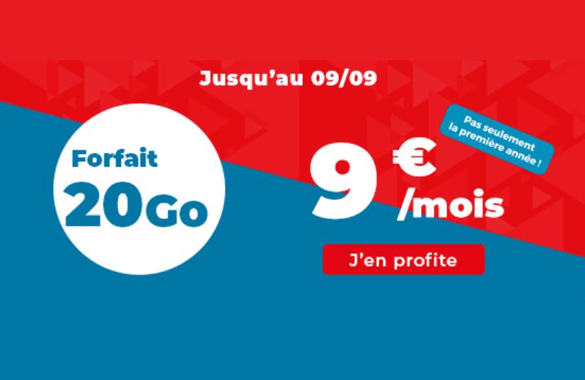 Le forfait 20 Go d'Auchan Telecom