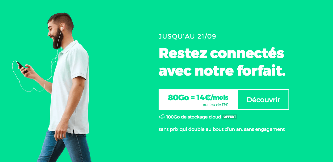 Forfait 4G RED 80 Go