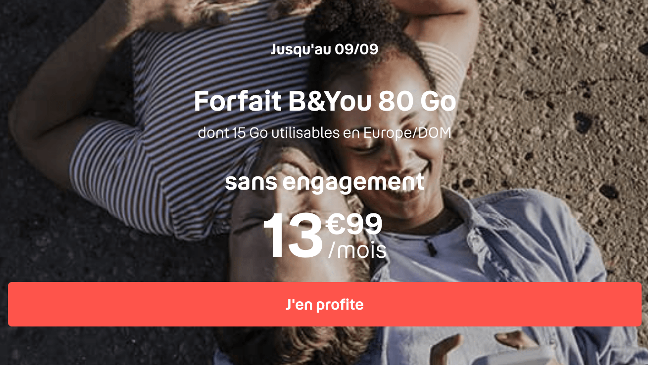 Forfait 80 Go Bouygues B&YOU