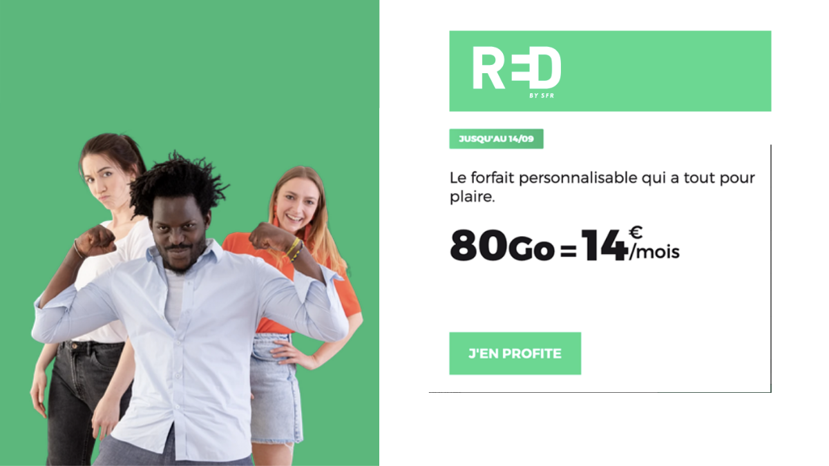 RED by SFR forfait 80Go