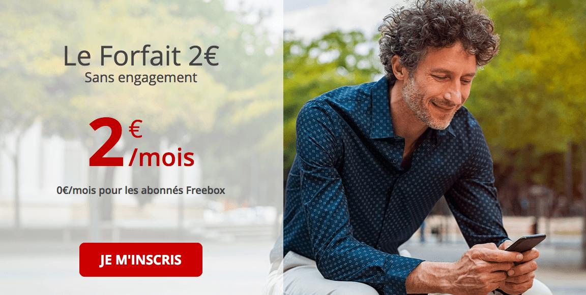 Forfait à 2 € gratuit