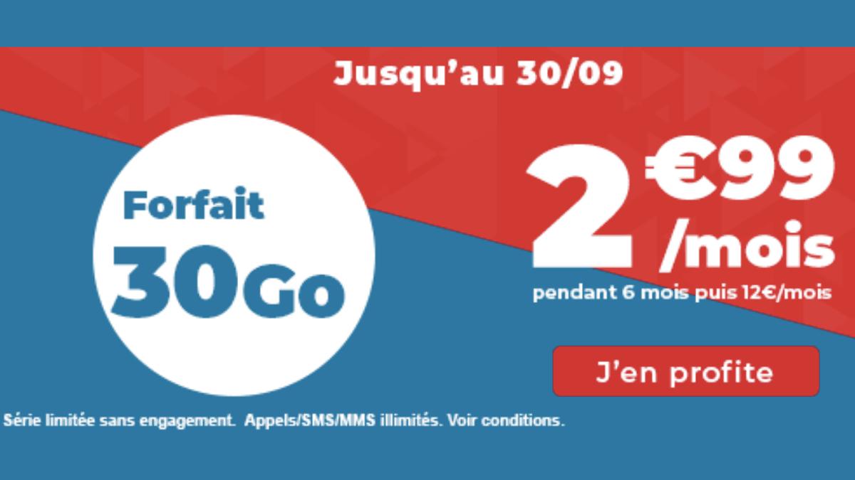 Forfait illimité Auchan 30 Go