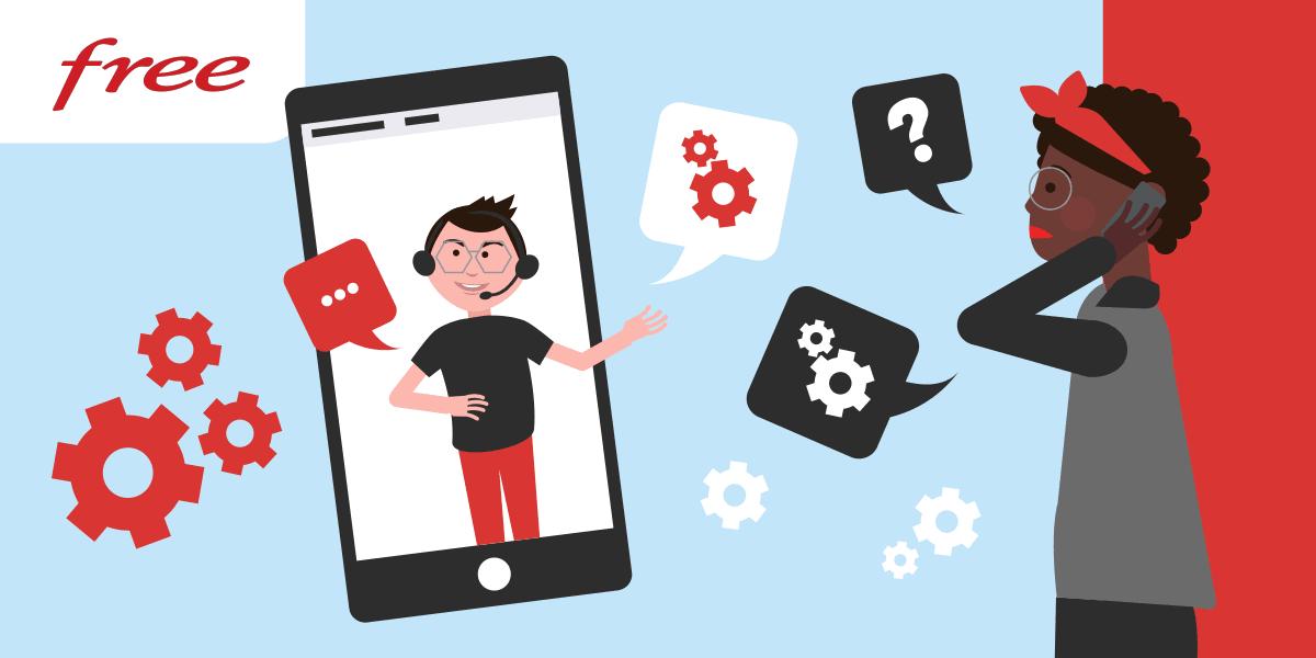 Prendre contact avec le service client de Free mobile