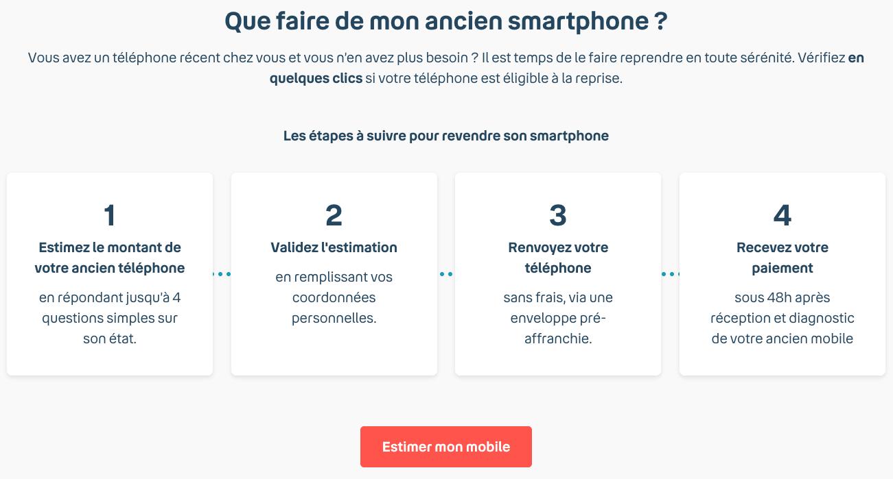 Offre de reprise Bouygues - estimer téléphone