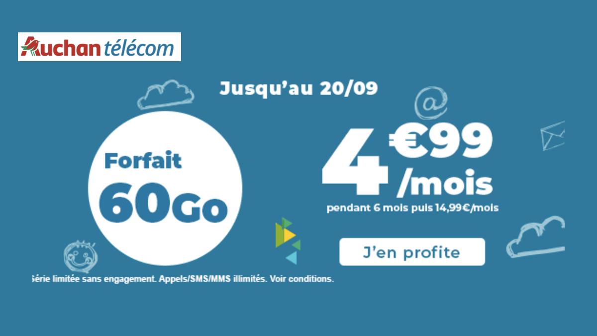 auchan telecom forfait promo
