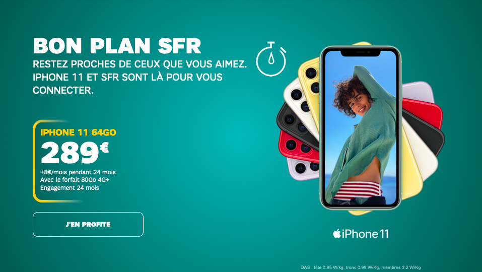 bon plan SFR iPhone