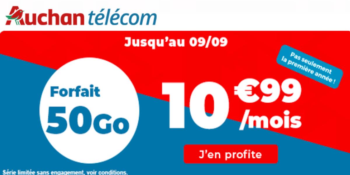 Plan Auchan Telecom 50 Go