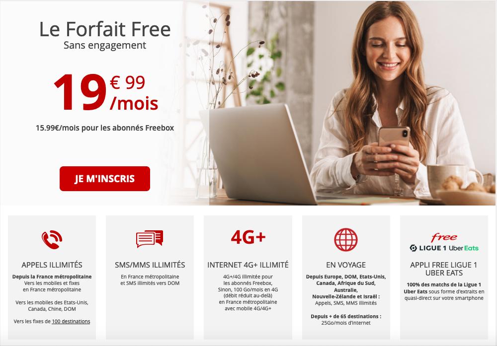 forfait free 100 Go mobile