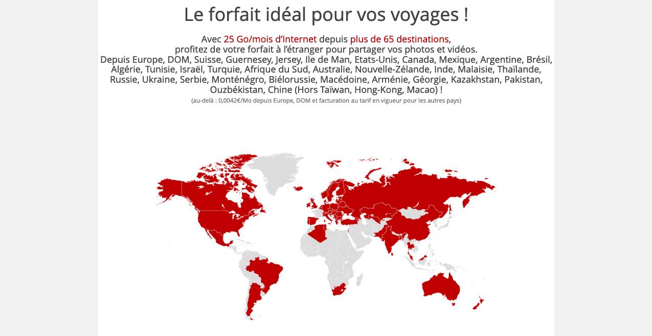 forfait free voyages