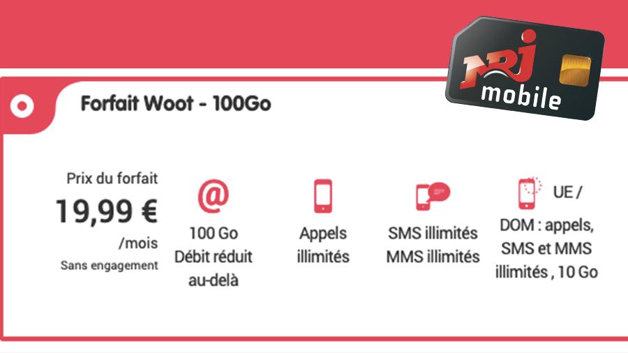 forfait mobile NRJ 100 Go