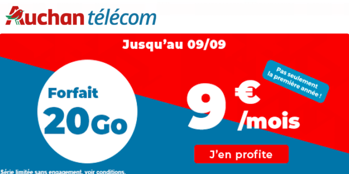 Plan Auchan Telecom 20 Go