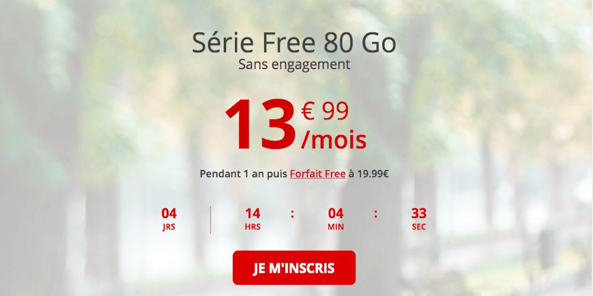Forfait en promo Free mobile