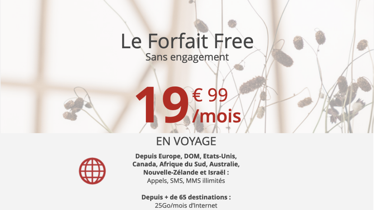 free forfait international