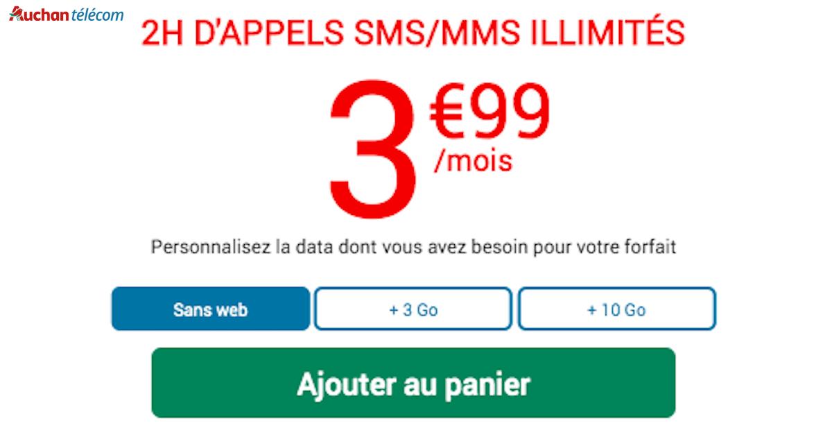 Plan Auchan Telecom personnalisable