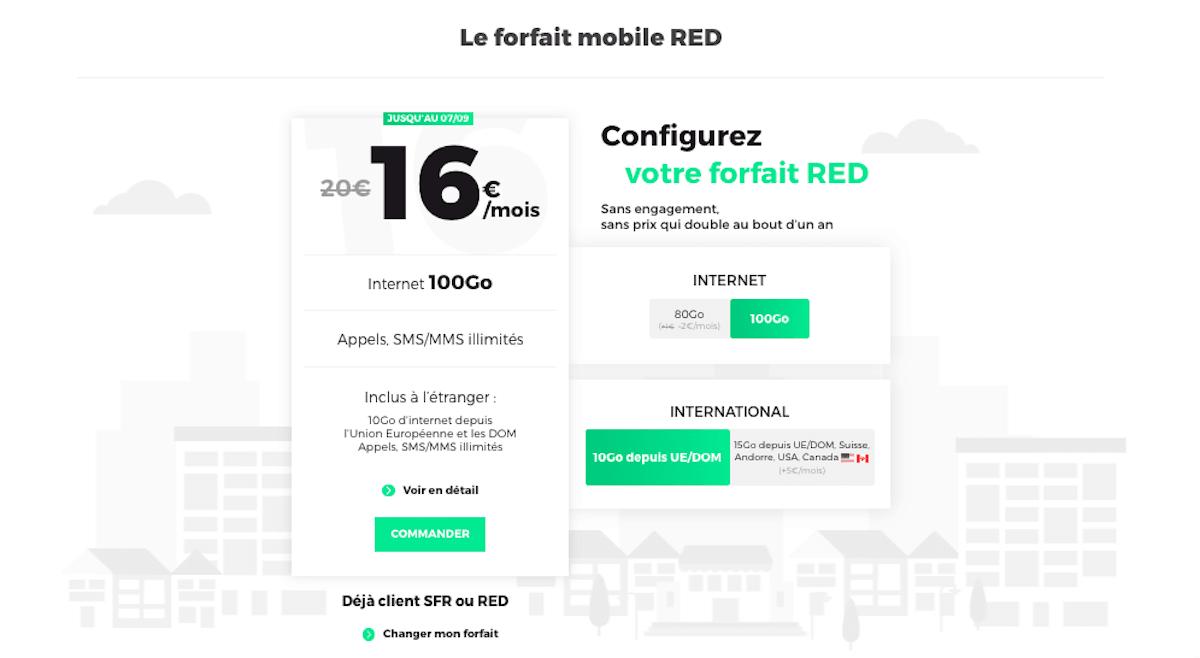 forfait étudiant 100 Go RED by SFR
