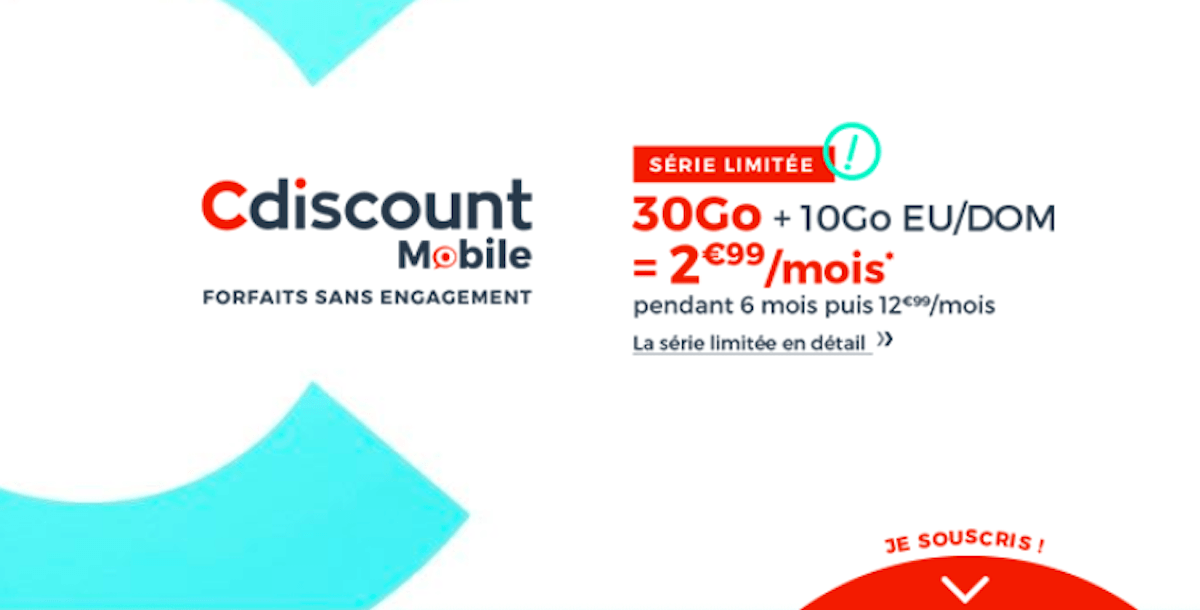 Pack promotionnel Cdiscount 30 Go