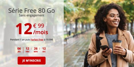 Free promo forfait 80 Go.