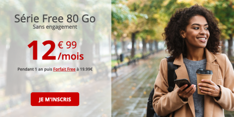 Forfait Free 80 Go en promo.