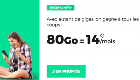 RED by SFR popin forfait 80 Go