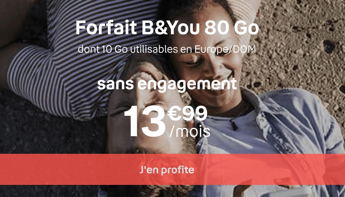 le forfait B&YOU 80 Go