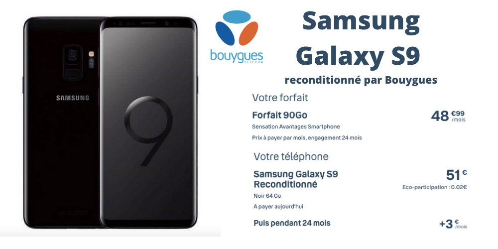 Galaxy S9 reconditionné Bouygues