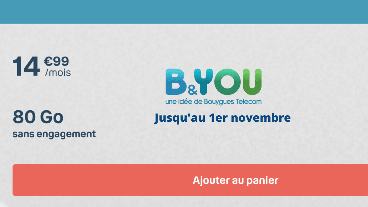 Forfait mobile B&YOU 80 Go
